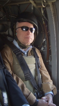 McCain on war plane looking out of it