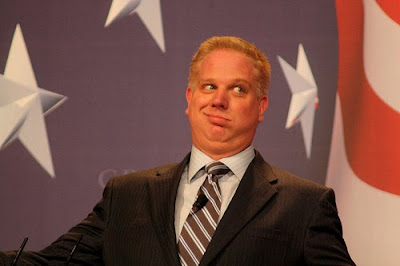 Glenn Beck looking deranged