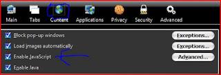 enable java script,disable java script,firefox javascript