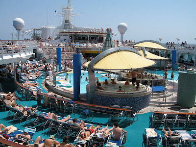 Voyager Class Main Pool Deck Area