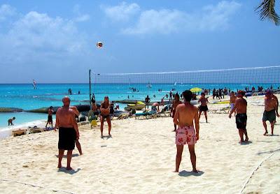 Beach Volleyball On Riu Playacar Beach