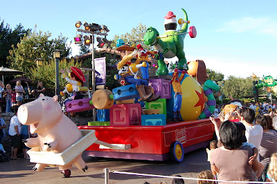Toy Story Float In Disneyland Pixar Parade