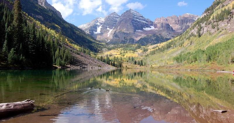 maroon bells lake at - photo #13