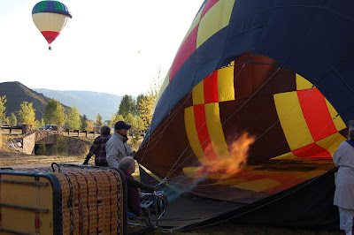 Hot Air Balloon Inflating id=