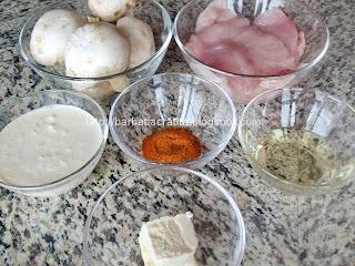 Pui cu smantana si ciuperci ingrediente reteta