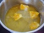 Prajitura cu gris si portocale preparare sirop