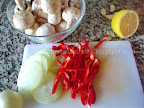 Dorada la cuptor cu ciuperci si legume preparare
