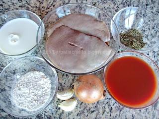 Ficat de porc cu sos Ingrediente reteta