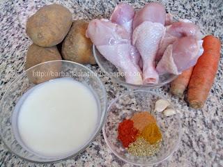 Ciocanele de pui la cuptor Ingrediente