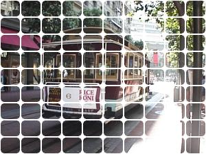 角丸四角タイルパターンで切り取った画像