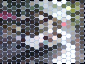 groovyで六角形の升目上に変換した画像
