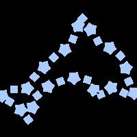 SVGRendererでシェイプストロークを使用して描画した画像