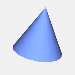 JOGLで描画した円錐