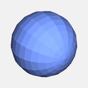 JOGLを使用してフラットシェーディングで描画した球