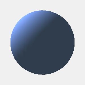JOGLで光源を設定して描画した球
