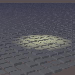 JOGLでスポットライトを使用した画像