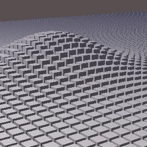 JOGLで描画した複数の直方体の山