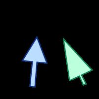 GfxBuilderで描画した矢印画像