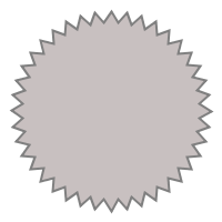GfxBuilderで描画したバッジ
