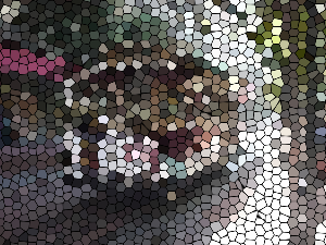 ProcessingとJava Image Filters(pixels)を使用してステンドグラス風に変換した画像
