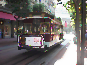 ProcessingとJava Image Filters(pixels)を使用して油絵風に変換した画像