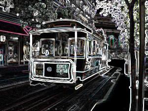 ProcessingとJava Image Filters(pixels)を使用してエッジ抽出した画像