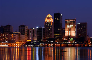 Look how close the water is to downtown Louisville!
