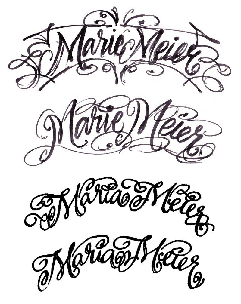 THE ART OF HAND LETTERING: Marie Meier Lettering