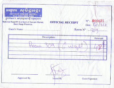 angkor+receipt Is It the Principle...Or Is It Being Cheap?