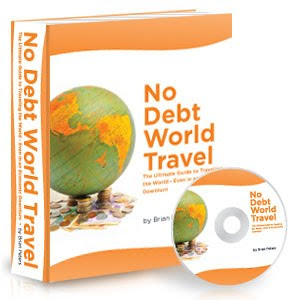 bookcdsmockup300 Get Your Copy Today   No Debt World Travel E Book is Released!
