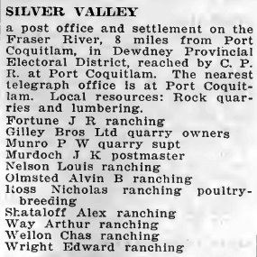Silver Valley 1919