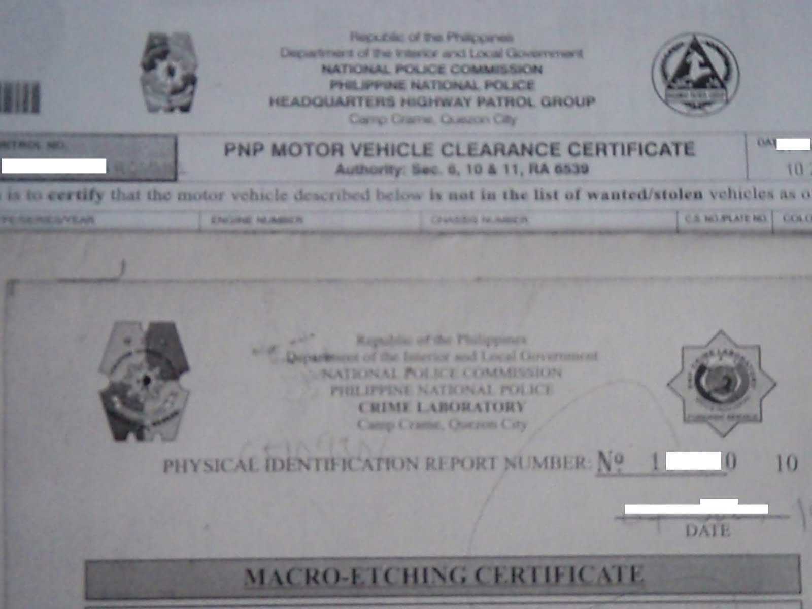 Motor Vehicle Clearance From Hpg Noelizm