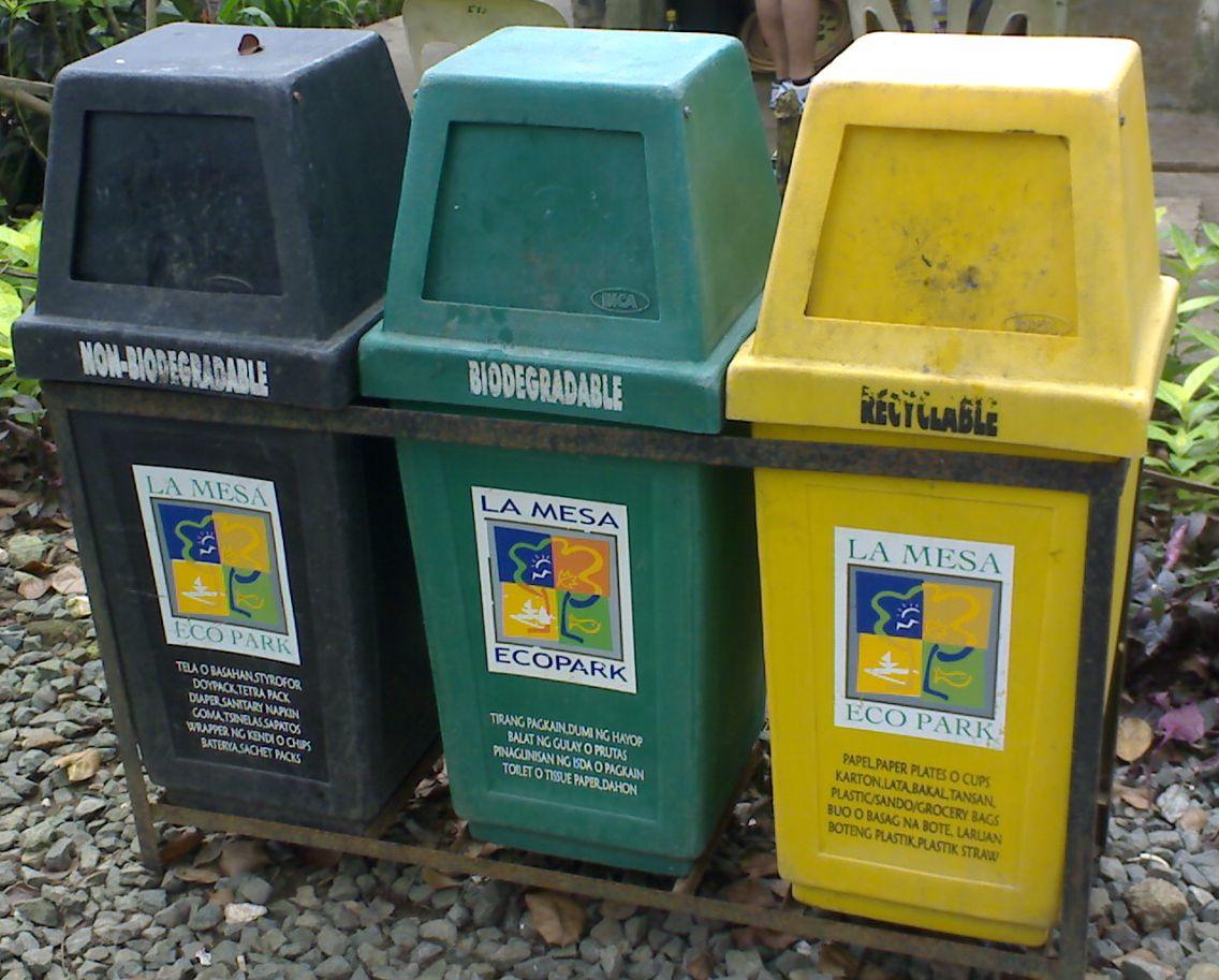 Three Bin Trash Can Simple Sort Stream Recycling Station 2