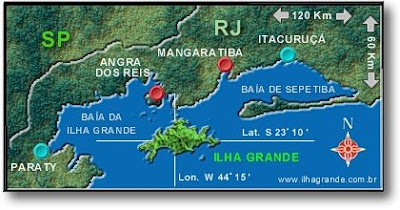 Ilha Grande Zone map