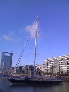 frigates and sailboats in puerto madero