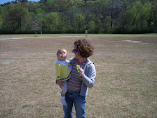 Mommy and Hannah flying a kite!
