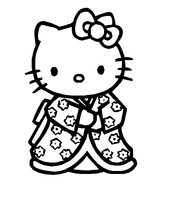 angel hello kitty coloring pages - photo#18