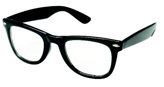 OG Vintage Buddy NERD Wayfarer Blues Brothers Clear Sunglasses  Black