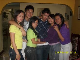 con mis amigos de grupo