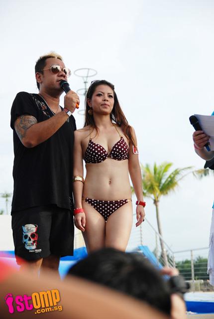 Beach bikini contest party show