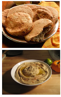 low calorie hummus and pita
