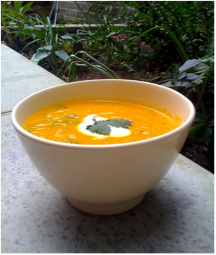 low calorie carrot soup