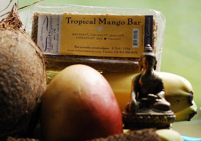tropical mango coconut low calorie bar
