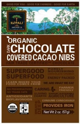 low calorie chocolate covered cocoa nibs