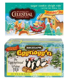 sugar cookie sleigh ride tea and bigelow eggnog'n tea
