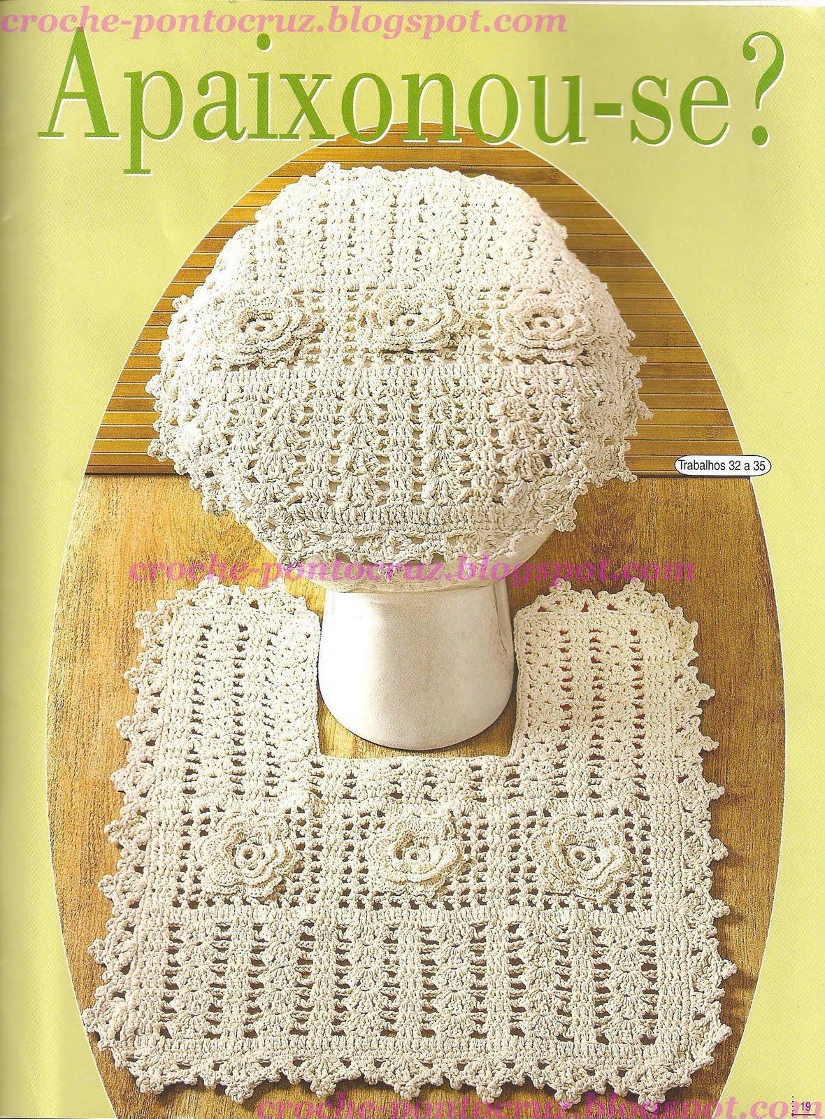 Wanda Arte em Crochê: Jogos de Banheiro #A58C26 1180 1600