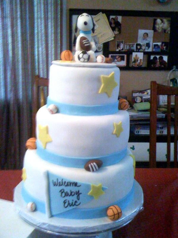 Snoopy Baby Shower And Cupcakes