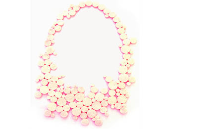 anemona necklace white