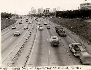 central expressway, dallas, circa 1980