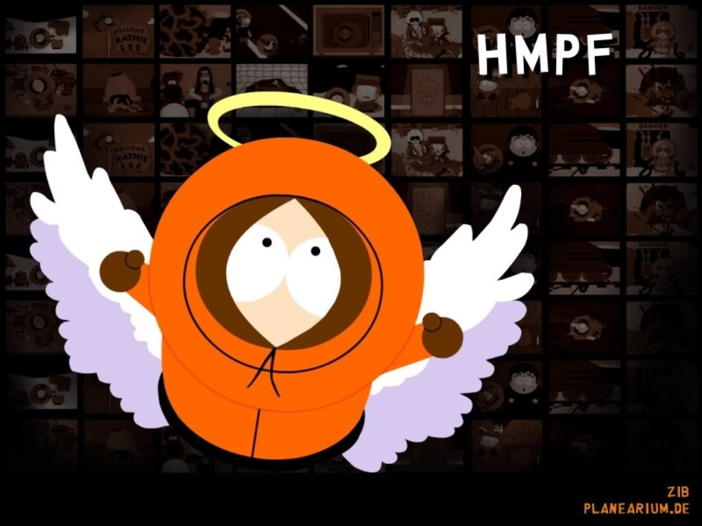 As the colors fade to black and blue i love kenny - Pics of kenny from south park ...